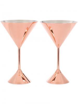 Два бокала для мартини Plum Tom Dixon. Цвет: золотистый