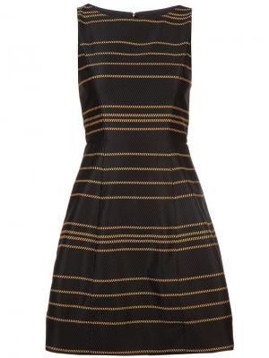Структурированное короткое платье Alice+Olivia. Цвет: черный