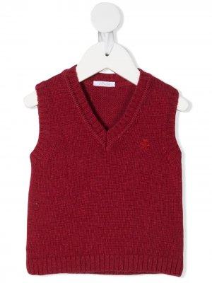 Жилет с вышитым логотипом Le Bebé Enfant. Цвет: красный