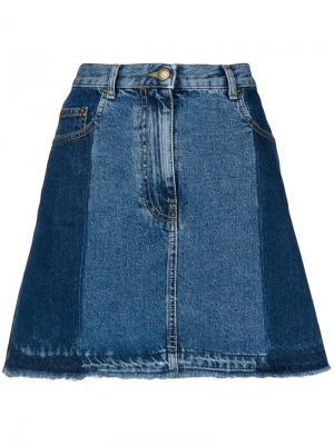 Расклешенная джинсовая юбка McQ Alexander McQueen. Цвет: синий