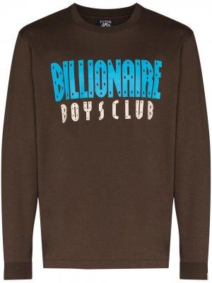 Футболка с длинными рукавами и логотипом Billionaire Boys Club. Цвет: коричневый