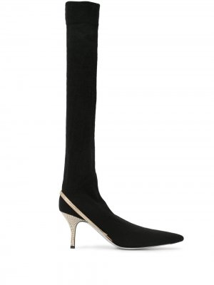 Сапоги с заостренным носком René Caovilla. Цвет: черный