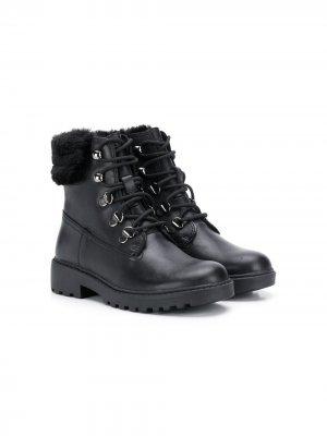 Непромокаемые ботинки Casey Geox Kids. Цвет: черный