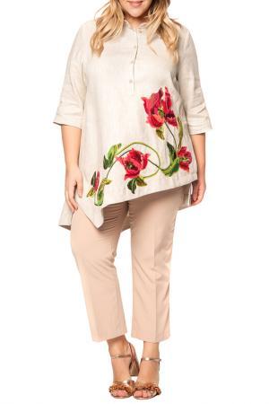 Рубашка Yukostyle. Цвет: серый