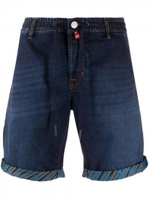 Джинсовые шорты-бермуды с кулиской Jacob Cohen. Цвет: синий