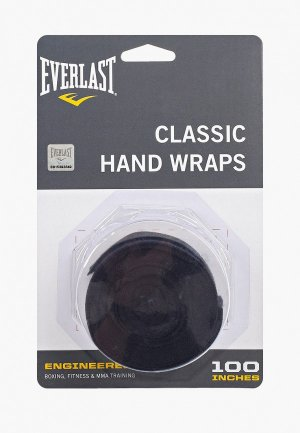 Бинт боксерский Everlast. Цвет: черный