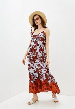Платье пляжное Seafolly Australia. Цвет: коричневый
