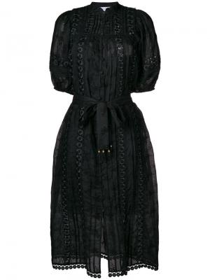 Embroidered belted dress Zimmermann. Цвет: черный
