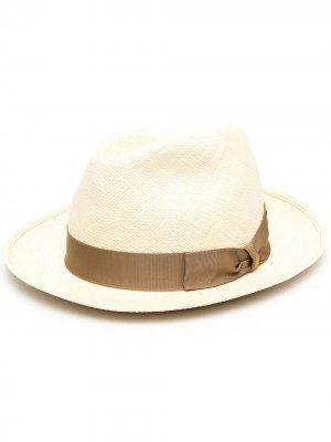 Шляпа с логотипом Borsalino. Цвет: нейтральные цвета