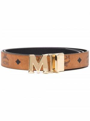 Ремень с пряжкой-логотипом MCM. Цвет: коричневый