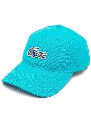 Бейсболка с вышитым логотипом Lacoste Kids. Цвет: синий