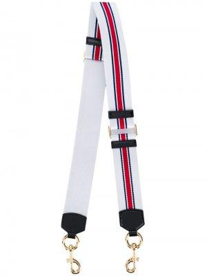 Узкий ремень для сумки в полоску Marc Jacobs. Цвет: белый