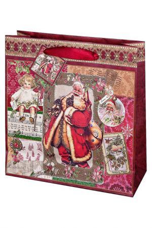 Подарочный пакет Mister Christmas. Цвет: красный