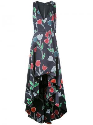 Длинное платье Beckie Alice+Olivia. Цвет: черный