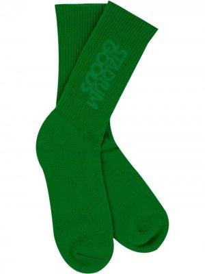 Носки с вышитым логотипом Stadium Goods. Цвет: зеленый