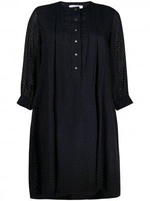 Платье из филькупе Roseanna. Цвет: синий