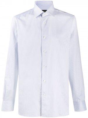 Рубашка в полоску Ermenegildo Zegna. Цвет: белый
