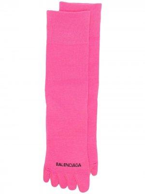 Носки с логотипом Balenciaga. Цвет: розовый