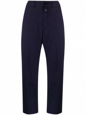 Укороченные брюки с завышенной талией Closed. Цвет: синий