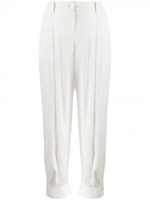 Зауженные брюки на пуговицах Emilio Pucci. Цвет: белый
