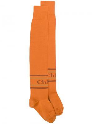Гетры с логотипом Chloé. Цвет: оранжевый