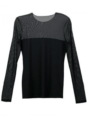 Платье с прозрачной вставкой Akris Punto. Цвет: черный
