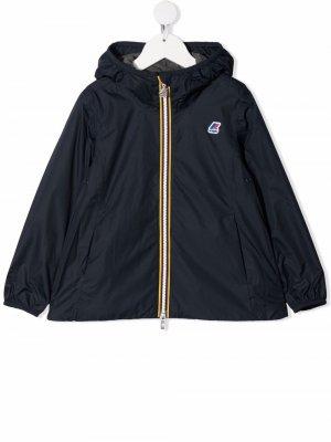 Куртка с капюшоном K Way Kids. Цвет: синий