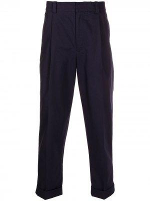 Твиловые брюки чинос со складками Acne Studios. Цвет: синий