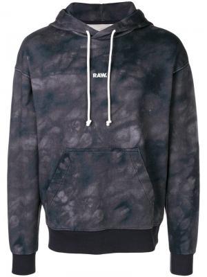 Tie dye hoodie G-Star Raw Research. Цвет: черный