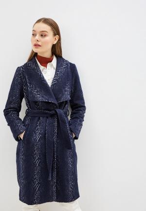 Пальто Yumi. Цвет: синий