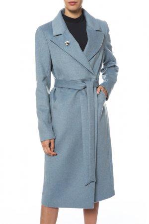 Пальто Анора. Цвет: голубой меланж