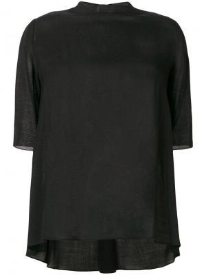 Loose flared blouse Giambattista Valli. Цвет: черный