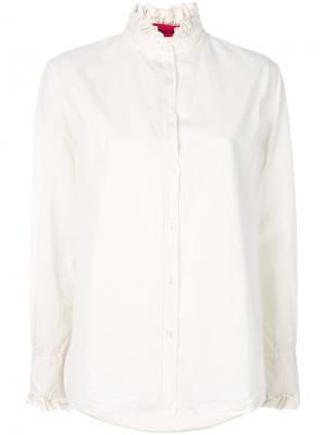 Рубашка с рюшами The Gigi. Цвет: нейтральные цвета