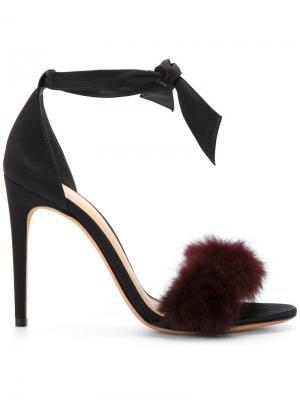 Fur sandals Alexandre Birman. Цвет: чёрный