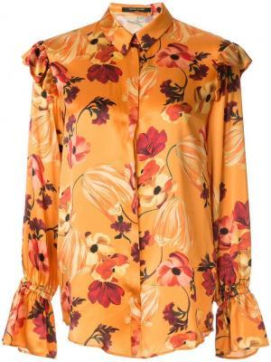 Блузка с оборками и цветочным принтом Mother Of Pearl. Цвет: разноцветный