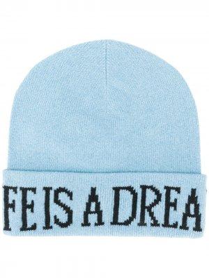 Трикотажная шапка бини Life Is A Dream Alberta Ferretti. Цвет: синий