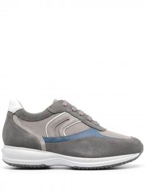 Кроссовки со вставками Geox. Цвет: серый