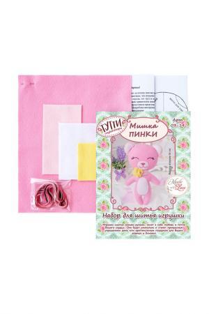 Набор для шитья Мишка Пинки СТУДИЯ ДЕКОРА ТУТТИ. Цвет: розовый