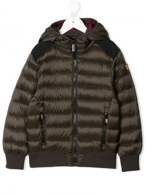 Дутая куртка с капюшоном Ciesse Piumini Junior. Цвет: зеленый