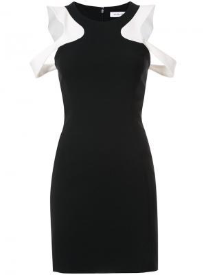 Платье с вырезами на плечах Mugler. Цвет: черный