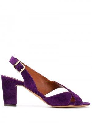 Бархатные босоножки на каблуке Michel Vivien. Цвет: фиолетовый