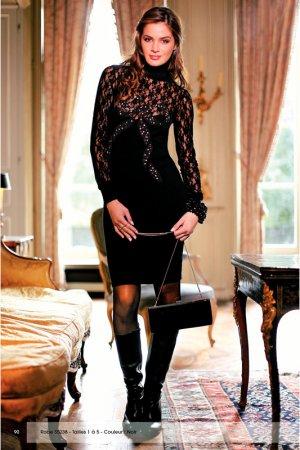 Платье SPARKLE. Цвет: черный