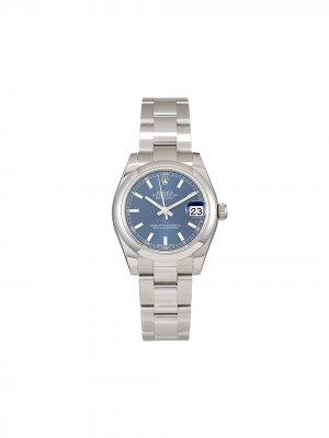 Наручные часы Oyster Perpetual Datejust pre-owned 31 мм Rolex. Цвет: голубой