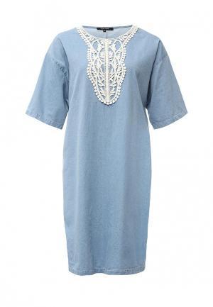 Платье Tom Farr. Цвет: голубой