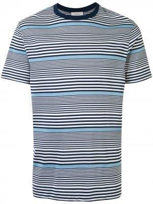 Полосатая футболка Cerruti 1881. Цвет: белый