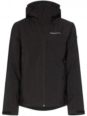 Куртка Maroon с капюшоном Peak Performance. Цвет: черный