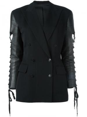 Пиджак с контрастными рукавами Jean Paul Gaultier Vintage. Цвет: черный