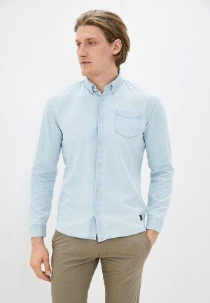 Рубашка джинсовая Shine Original. Цвет: голубой