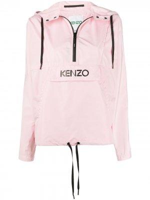 Ветровка с логотипом Kenzo. Цвет: розовый