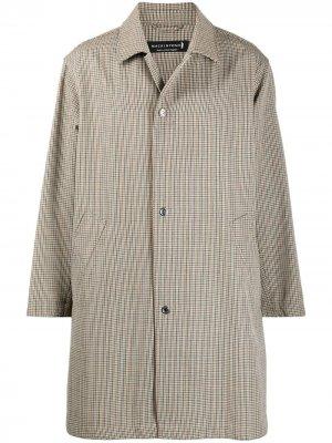 Однобортное пальто в клетку Mackintosh. Цвет: нейтральные цвета